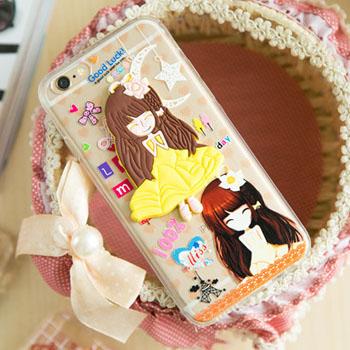 เคสลายการ์ตูนเด็กผู้หญิง (ยางหนา1.5) - iPhone6 Plus