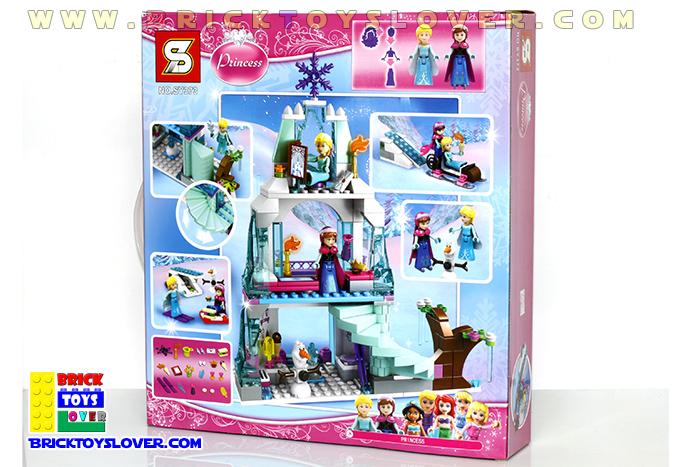เลโก้จีน SY373 มินิฟิกเกอร์ Frozen Castle ราคาถูก กล่องด้านหลัง