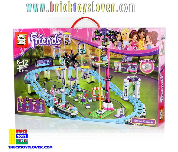 ตัวต่อ Friends สวนสนุก Amusement Park ชิงช้าสวรรค์กับรถไฟเหาะ Roller Coaster