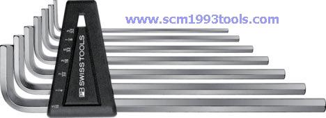PB Swiss Tool พีบีสวิสทูล รุ่น PB214Z-H ประแจหกเหลี่ยมแบบยาวชุด (นิ้ว) Hex key L-wrench SET for hexagon socket screws,INCH size