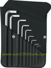 PB Swiss Tool พีบีสวิสทูล รุ่น PB214Z-K ประแจหกเหลี่ยมแบบยาวชุด (นิ้ว) บรรจุซองหนัง Hex key L-wrench SET for hexagon socket screws,INCH size