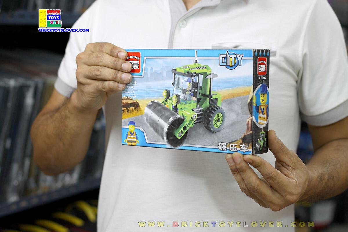 1104 ตัวต่อ City รถบดถนนสีเขียว Road rollers