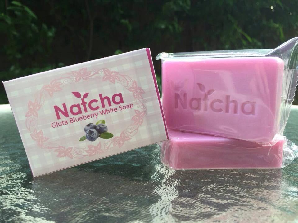 สบู่นัชชา สีม่วง Natcha blueberry