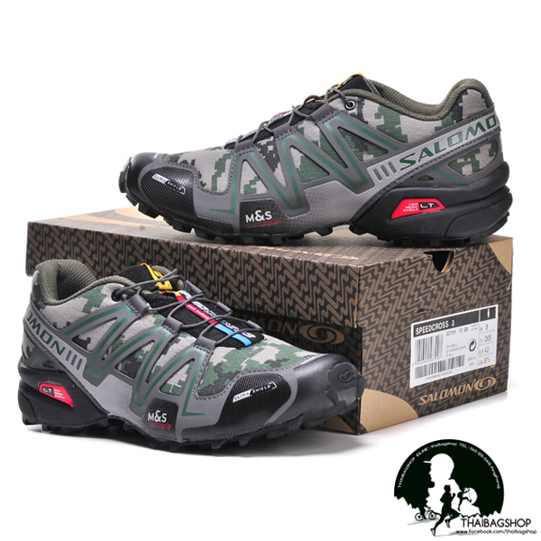 รองเท้า salomon สี ดิจิตอลเขียว