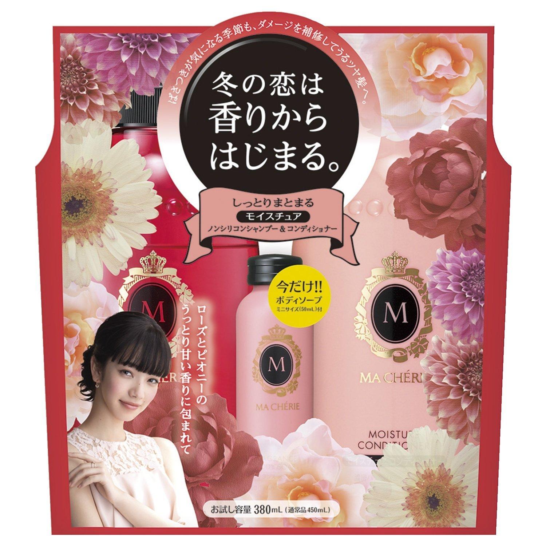 เซ็ตแชมพู+ครีมนวด Shiseido Ma cherie 380 ml.x2 ขวดใหญ่ แพคเกจ Limited Edition แถมสบู่อาบน้ำขวด 30 ml.