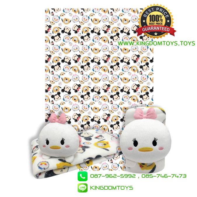 หมอนผ้าห่มม้วน เดซี่ TSUM TSUM 35x60 นิ้ว [Disney]
