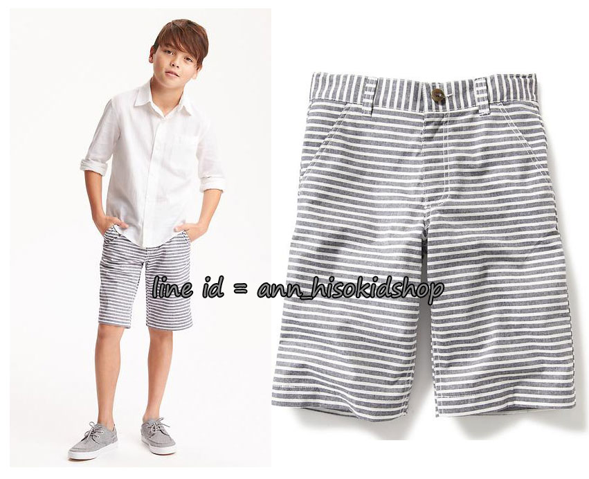 1763 Old navy Flat-Front Twill Shorts - Grey ขนาด 12 ปี