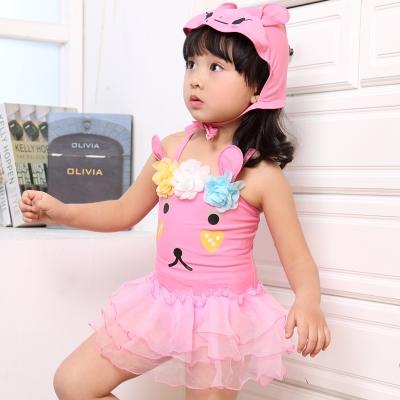 สีชมพู ลายกระต่าย พร้อมหมวก