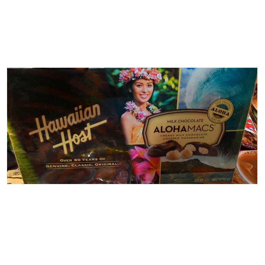 AlohaMacs ช็อคโกแลตสอดไส้แมคคาเดเมีย (Hawaiian Host AlohaMacs Milk Chocolate)