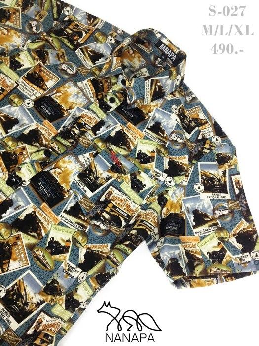 เสื้อเชิ้ตแขนสั้น ชาย NANAPA Shirts S-027