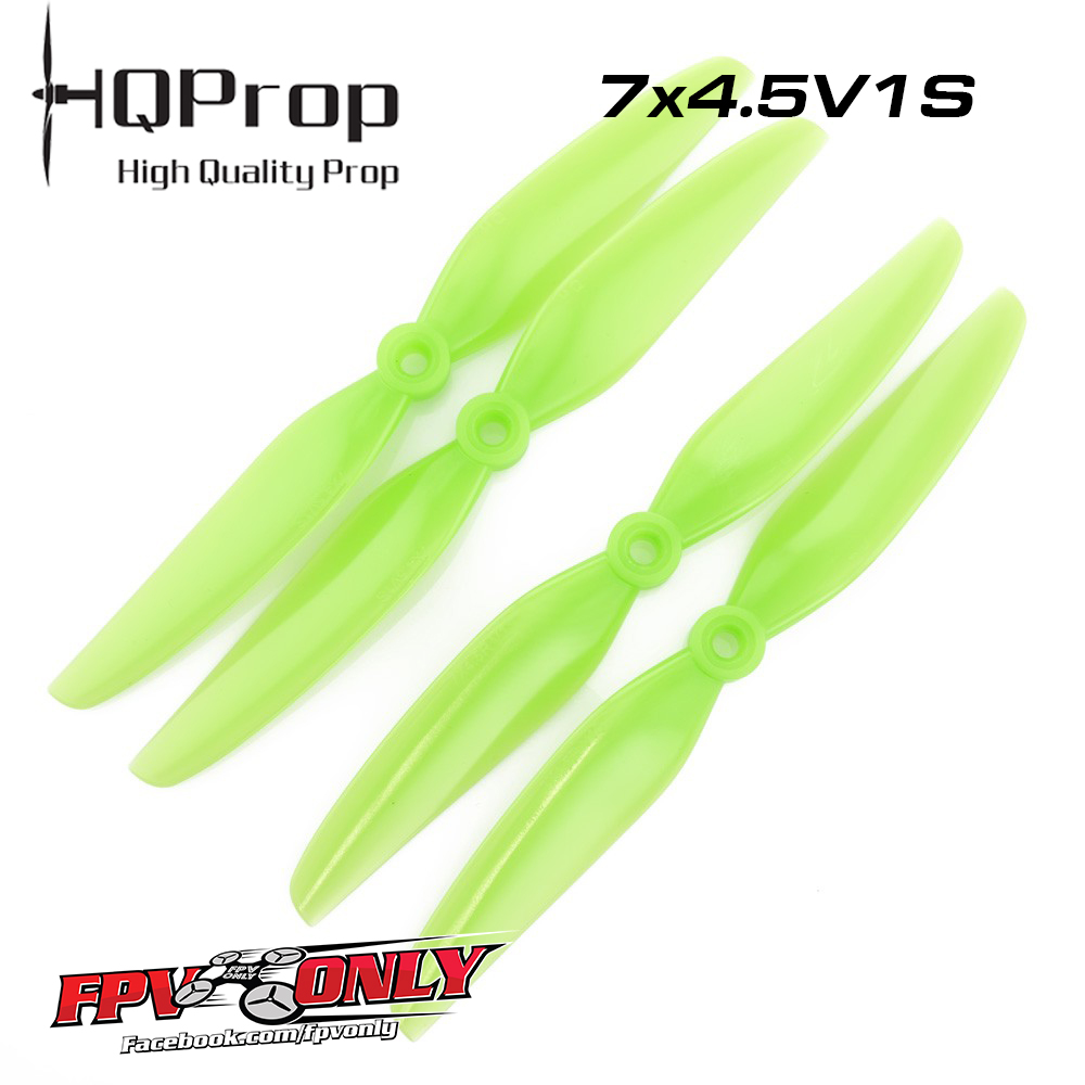 HQProp 7x4 5V1S PC Propeller - 2 Blade (Light Green - Set of 4) By Line ID  : @FPVONLY