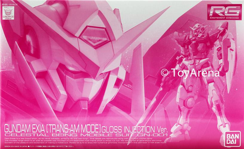 (มี1 รอเมลฉบับที่2 ยืนยันก่อนโอนเงิน ) P-bandai RG 1/144 Gundam Exia (Trans-AM Mode) Gloss Injection Ver.