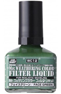 weathering color filter liquid wc-12 face green 40ml.