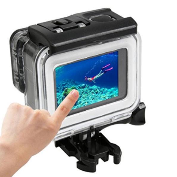 เอาเลนส์ออก GoPro Hero 5 6 Waterproof Case with Backdoor Touchscreen(Transparent): with remove lens