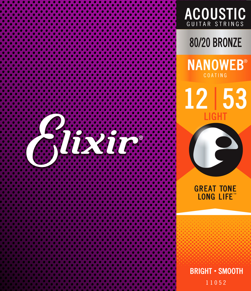 Elixir 80/20 Bronze Nanoweb Anti-Rust, Light, 12-53
