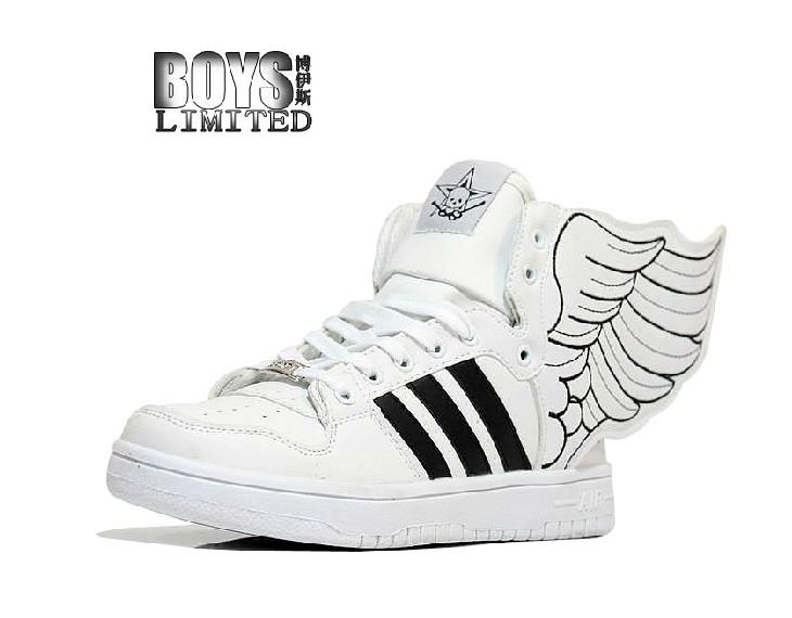 รองเท้ามีปีก (ขาว-ลายดำ)