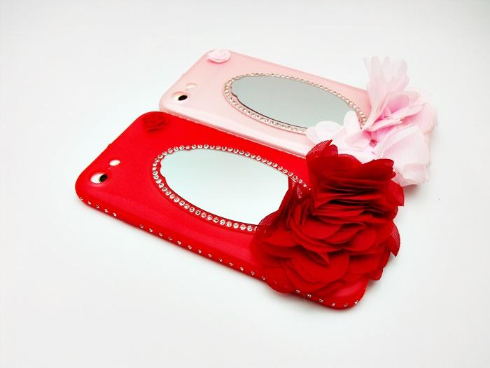 เคส tpu ขอบเพชร ติดกระจก ไอโฟน 7 4.7 นิ้ว