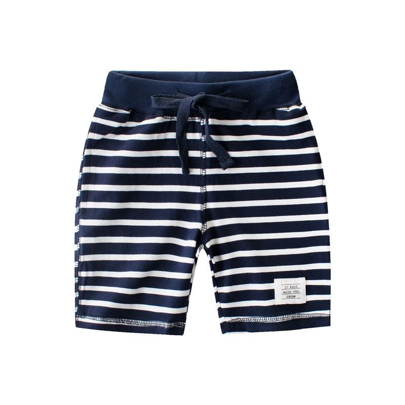 กางเกงขาสั้นลายขวางสีกรมท่า แพ็ค 6 ชิ้น [size 2y-3y-4y-5y-6y-7y]
