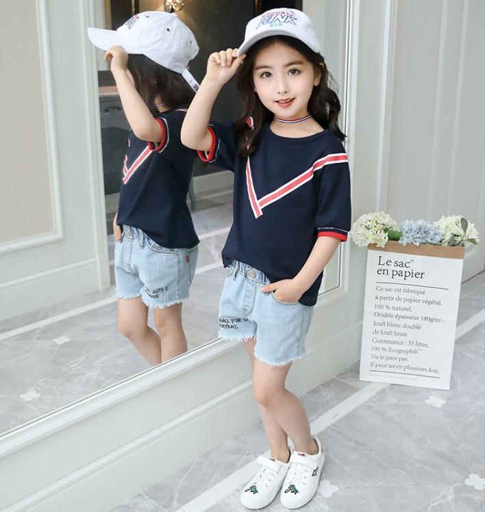 เสื้อ+กางเกง สีกรม แพ็ค 5 ชุด ไซส์ 120-130-140-150-160 (เลือกไซส์ได้)