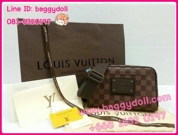 Louis Vuitton Damier Canvas Bum Bag Brooklyn **เกรดท๊อปมิลเลอร์** (Hi-End)