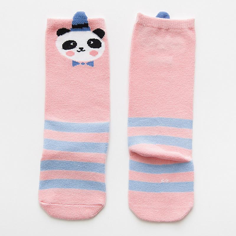 ถุงเท้ายาว สีชมพู แพ็ค 10 คู่ ไซส์ M (ประมาณ 1-3 ปี)