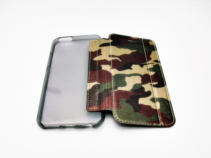 เคสฝาพับ Aston ลายทหาร ไอโฟน 6/6s 4.7 นิ้ว