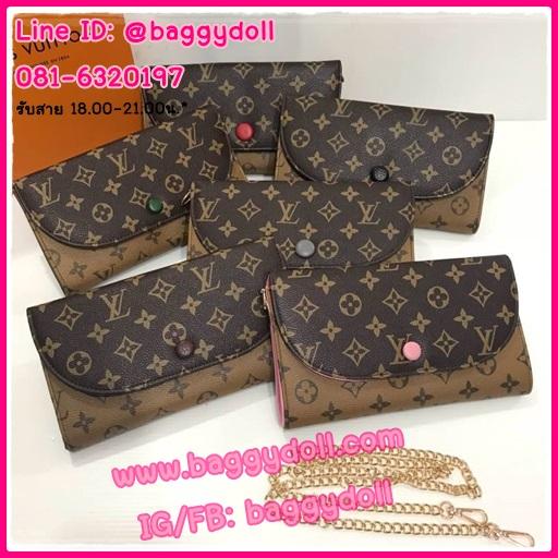 กระเป๋าสตางค์หลุยส์แบบมีสาย Louis wallet on chain **เกรดAAA** เลือกสีด้านในค่ะ