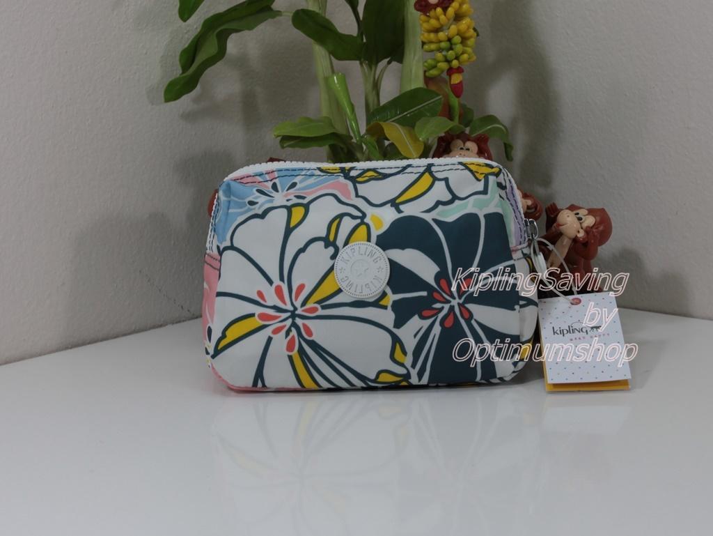 Kipling Mandy Hello Spring กระเป๋าใส่ของจุกจิก ขนาด 7 x 5 x 2.75 นิ้ว