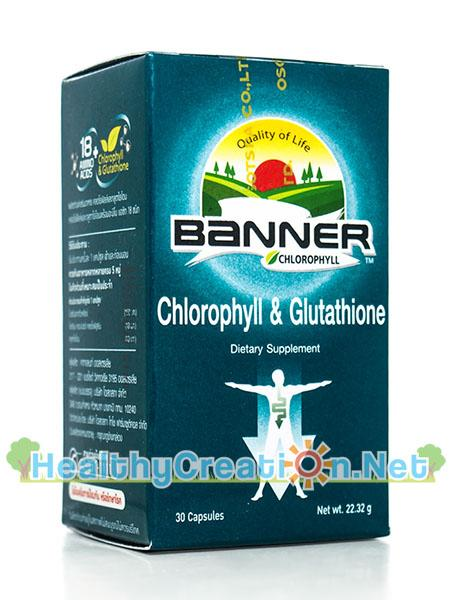 (สีเขียว)Banner Chlorophyll & Glutathione แบนเนอร์ คลอโรฟิลล์ และ กลูตาไธโอน