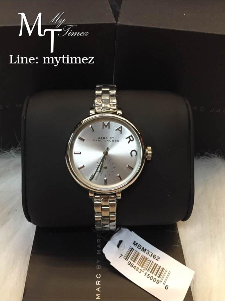 นาฬิกาข้อมือ MARC BY MARC JACOBS Sally Silver Dial Stainless Steel Ladies Watch MBM3362