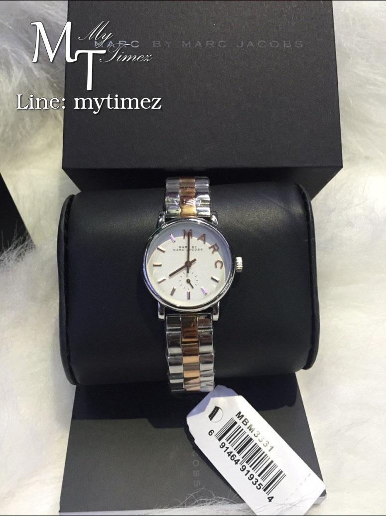 นาฬิกาข้อมือ Marc By Marc Jacobs รุ่น Baker White Dial Two-tone Ladies Watch MBM3331