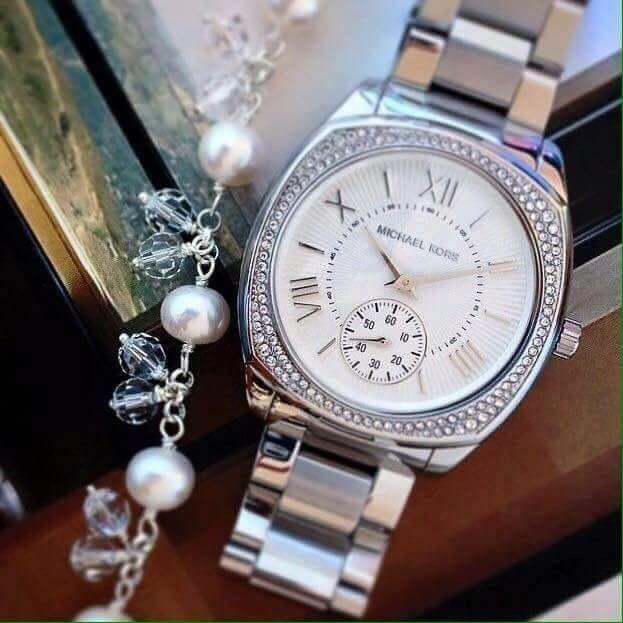 นาฬิกา Michael Kors Bryn Silver Dial Stainless Steel Ladies Watch MK6133 แบรนด์แท้