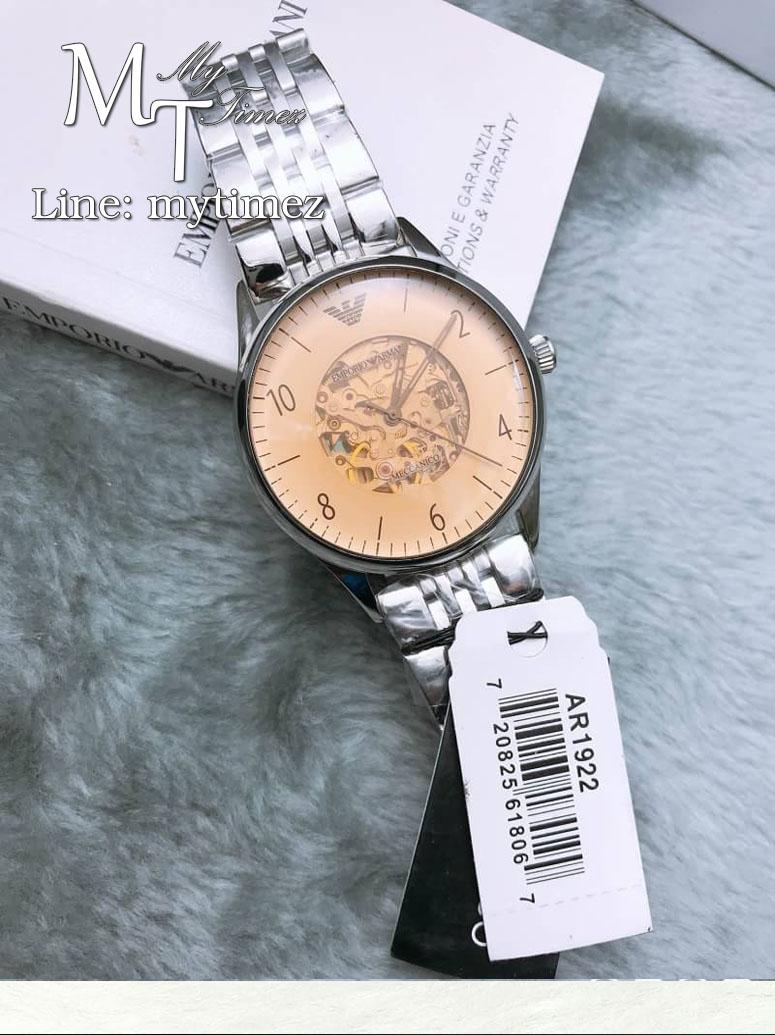 Emporio Armani Dress Beige Dial Men's Stainless Steel Watch - AR1922