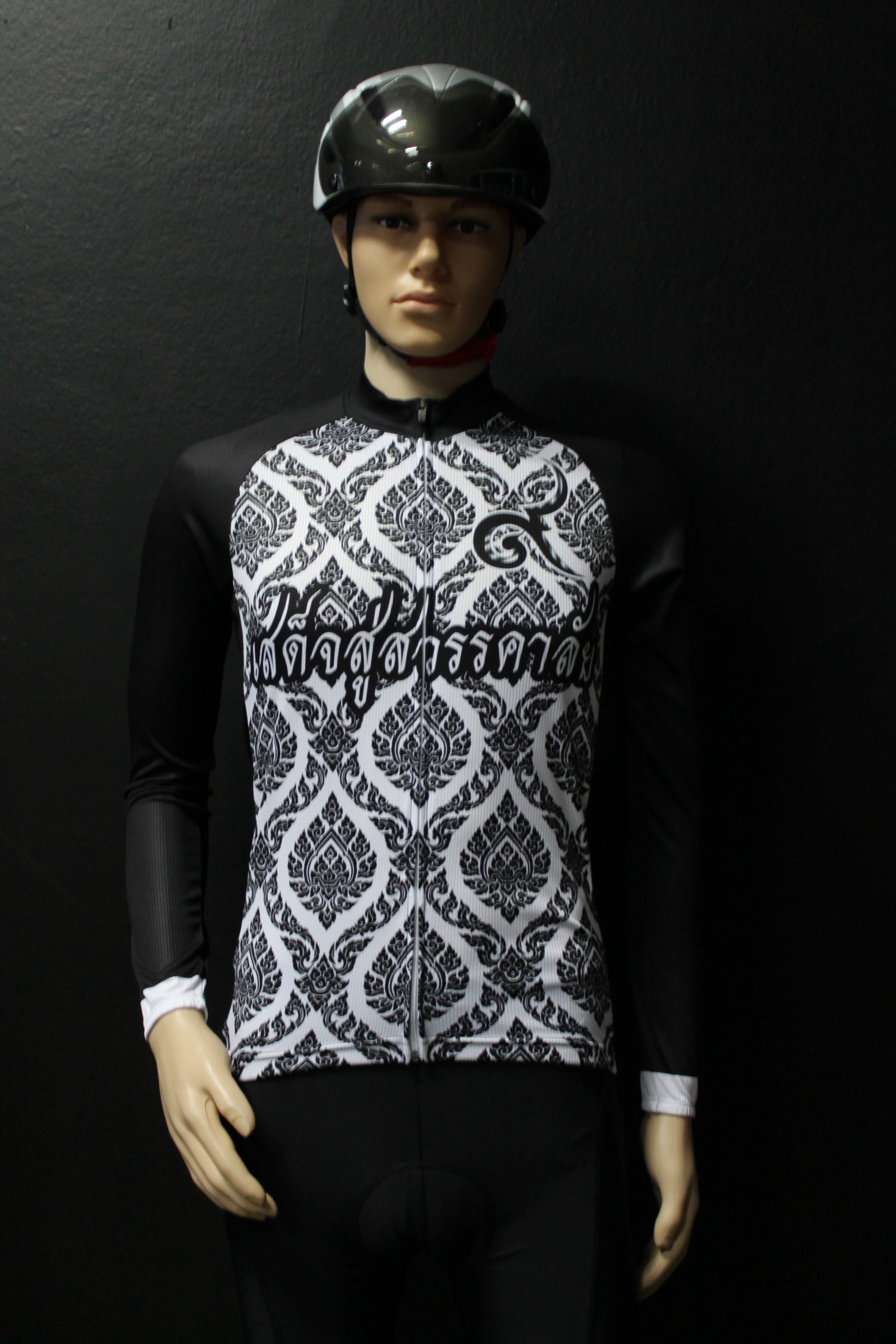 เสื้อปั่นจักรยานสีดำ รุ่น 1 (ป้ายขาว)