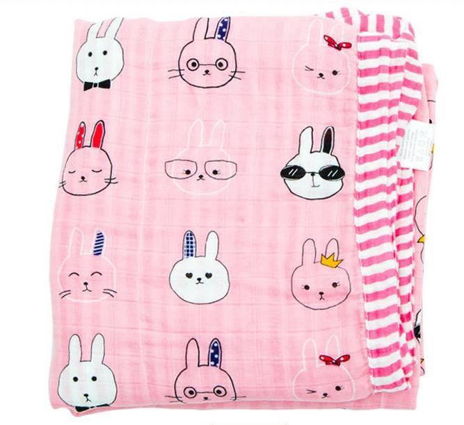 ผ้าห่มมัสลินแบมบู พรี่เมี่ยม (4 layer)