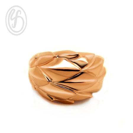 แหวนเงินเกลี้ยง เงินแท้ 92.5% ดีไซน์พิเศษ ชุบทองพิงค์โกล์