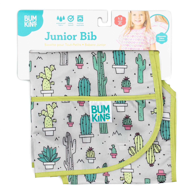 Bumkins เสื้อคลุมกันเปื้อน รุ่น Junior Bib สีเทา