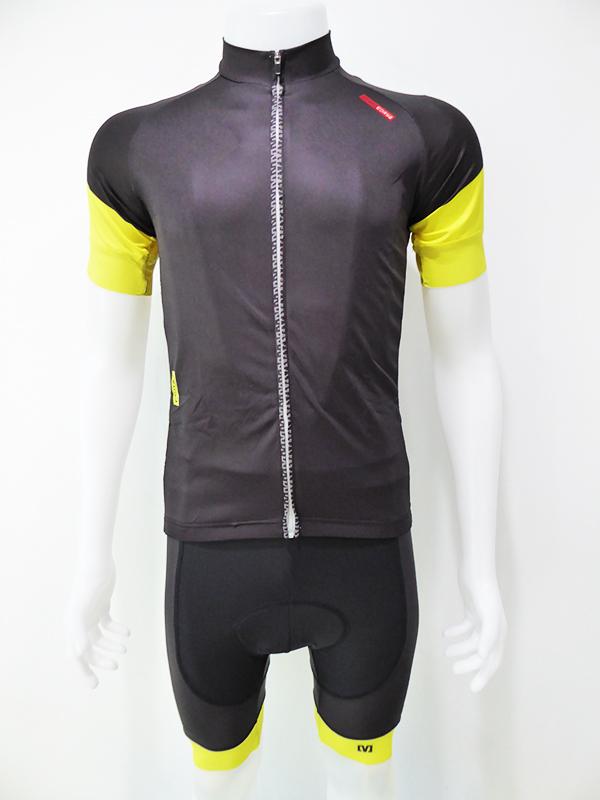 ชุดปั่นจักรยานสั้นปลายแขนและขาแบบเลเซอร์คัต Anti-Slip เอี๊ยม : XP170440