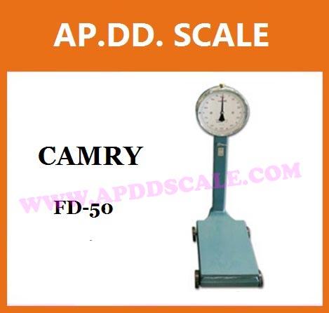 ตาชั่งน้ำหนัก50kg เครื่องชั่งเข็ม50กิโลกรัม เครื่องชั่งน้ำหนักแบบสปริง50kg เครื่องชั่งหน้าปัดแบบมีล้อ50kg ละเอียด100g ขนาดแท่น30*40cm CAMRY รุ่น FD-50