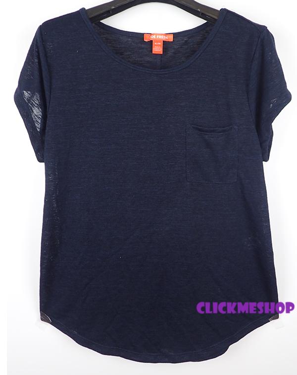 (ไซส์ XL หน้าอก 42-44 ยาว 27 นิ้ว) เสื้อยืดสีดำพื้น ยี่ห้อ joe เนื้อผ้านิ่ม มีกระเป๋าที่อกทรงหลวม เนื้อผ้ายืดใส่สบายน่ารัก สำเนา