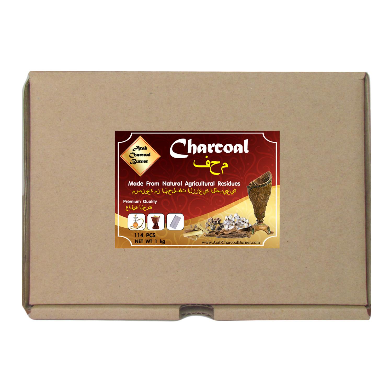 Arab Charcoal Burner ถ่านพิเศษ ถ่านชาโคล สำหรับจุดไฟเผา ชิช่า บารากุ ทำจากธรรมชาติ 100% ไร้กลิ่น ไร้ควัน ไม่มีประกายไฟ ปลอดภัย ไร้สารเคมี จุดนานถึง 4-5 ชมต่อชิ้น - 1 กิโลกรัม