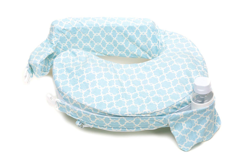 หมอนรองให้นม My Brest Friend Nursing Pillow รุ่น Deluxe ลาย Flower Key, Sky Blue, White ลายใหม่ล่าสุด