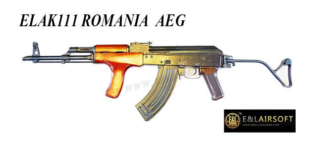 ปืนอัดลมระบบไฟฟ้า E and L AK Romania EL-A111 เหล็กจริง ไม้แท้