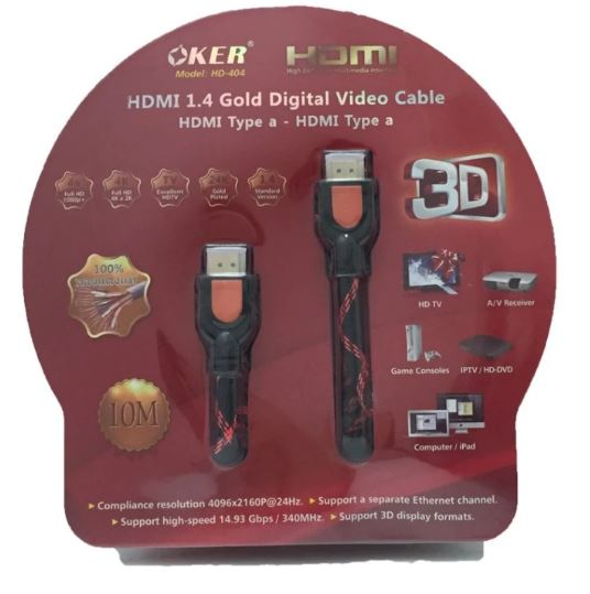 OKER Cable HDMI 10M