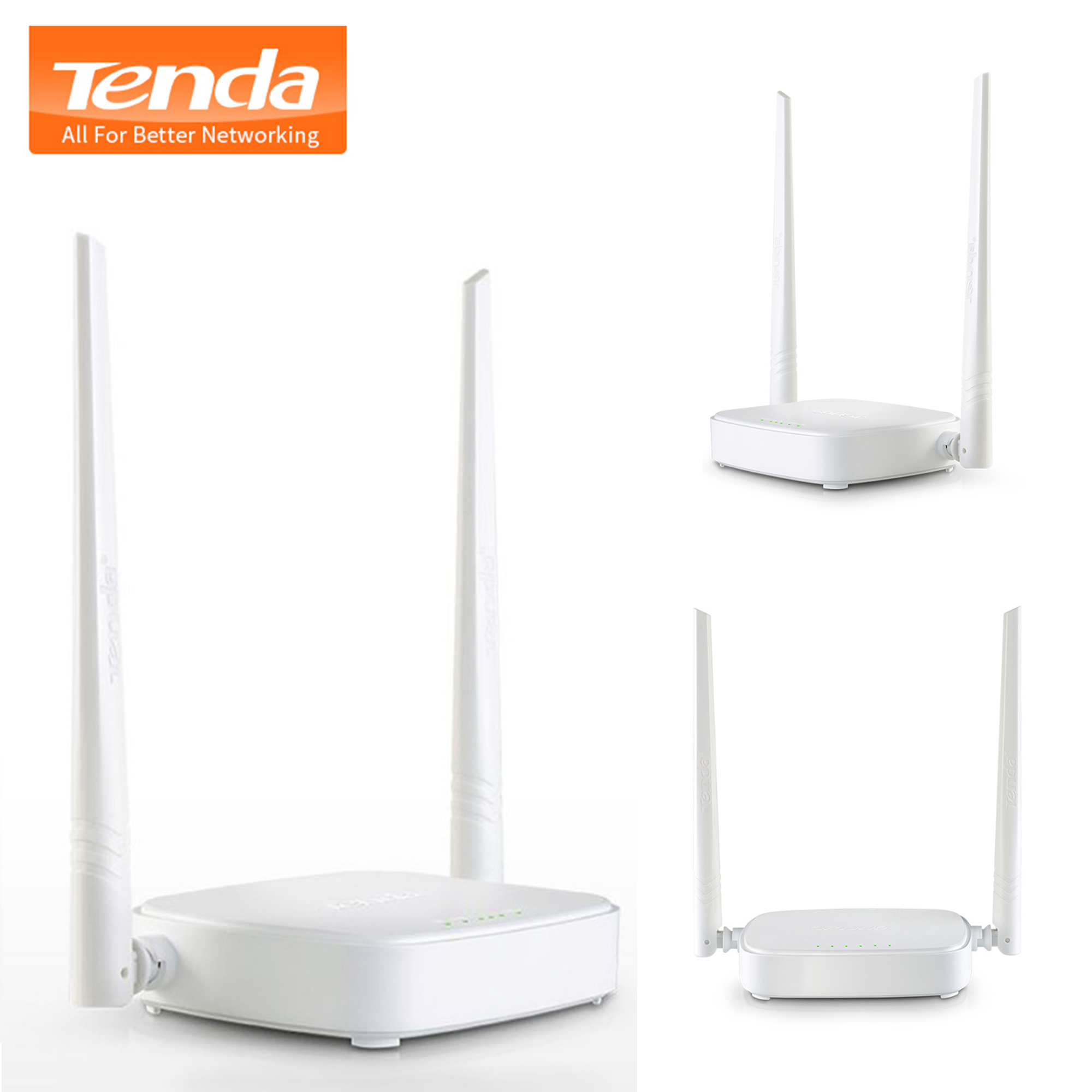 Tenda N301 300Mbps Wireless WiFi Router Wi-Fi Reperter 1WAN 3LAN Ports
