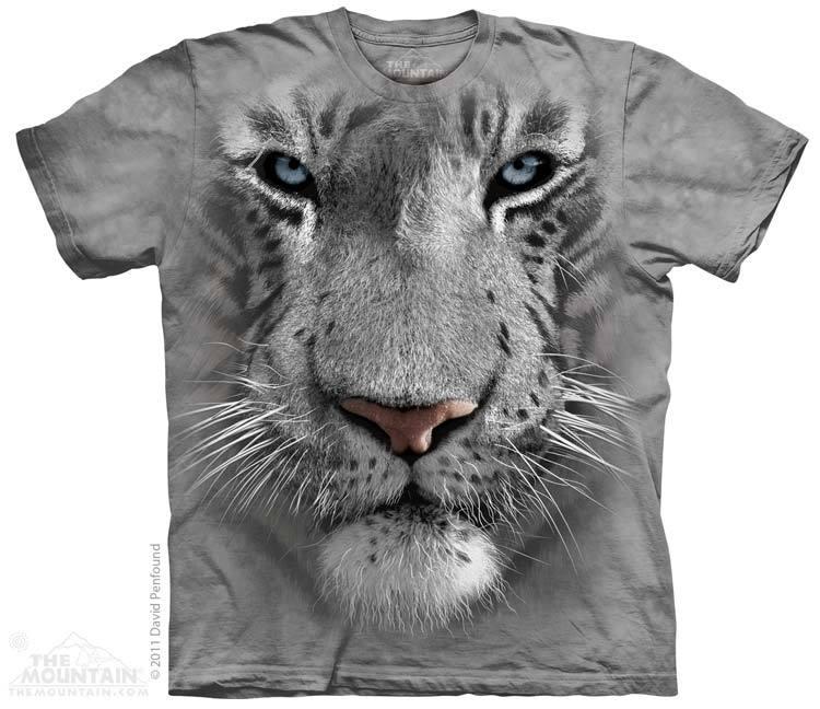 เสื้อยืด3Dสุดแนว(WHITE TIGER FACE T-SHIRT)
