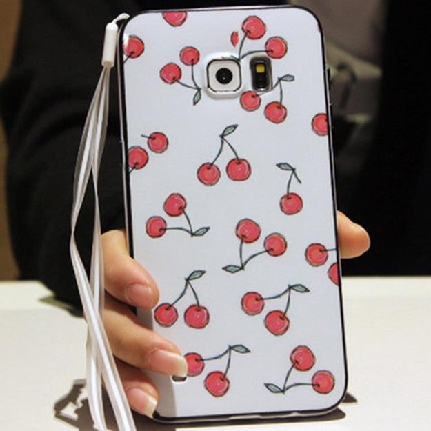 (พร้อมส่ง)เคสมือถือซัมซุง Case Samsung S6 Edge Plus เคสนิ่มขอบสีพื้นหลังลายสวยๆน่ารักๆ