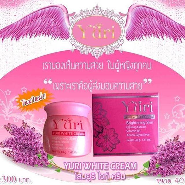 Yuri White Cream โสมยูริ ครีม ช่วยในการปรับสภาพผิวพรรณเรียบเนียน ช่วยในการปรับสภาพผิวพรรณเรียบเนียน ผสมขมิ้น ซึ่งให้ความขาว พร้อมทั้งยังอุดมไปด้วยสารสกัดจากพืช และอุดมไปด้วย Niacinemide ที่มีส่วนช่วยให้ผิวพรรณ กระจ่างใส ของแท้ ราคาถูก ปลีก/ส่ง โทร.081-859-8980 ต้อมค่ะ