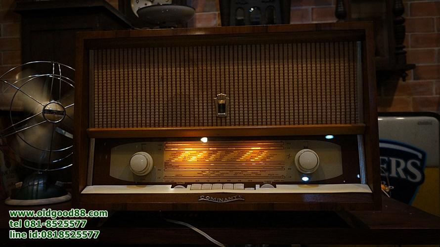 วิทยุหลอด rft Dominante ปี 1957 รหัส17661rf