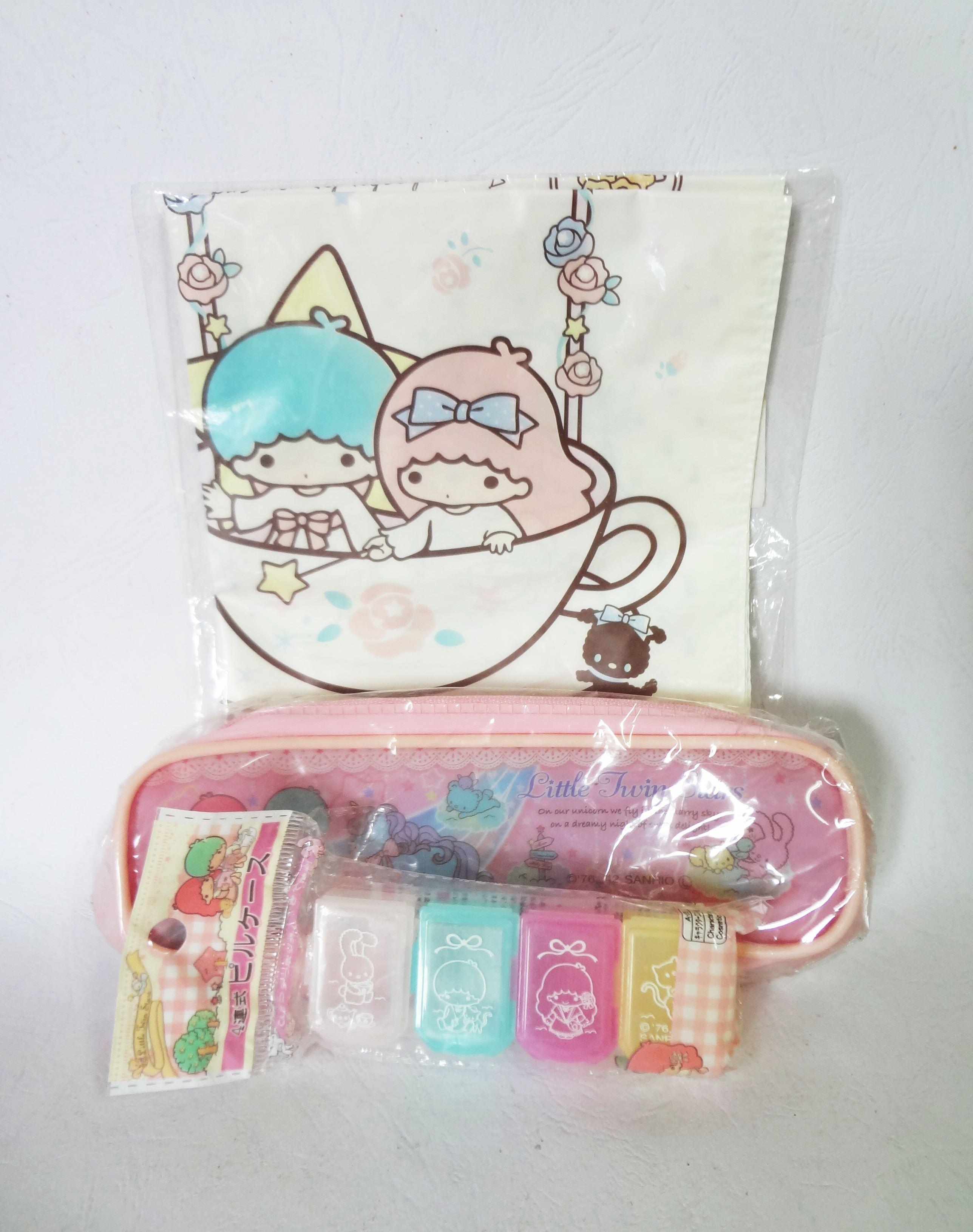 Little Twin Stars:ถุงใส่ของ,กระเป๋าใส่ดินสอและกล่องใส่ยา